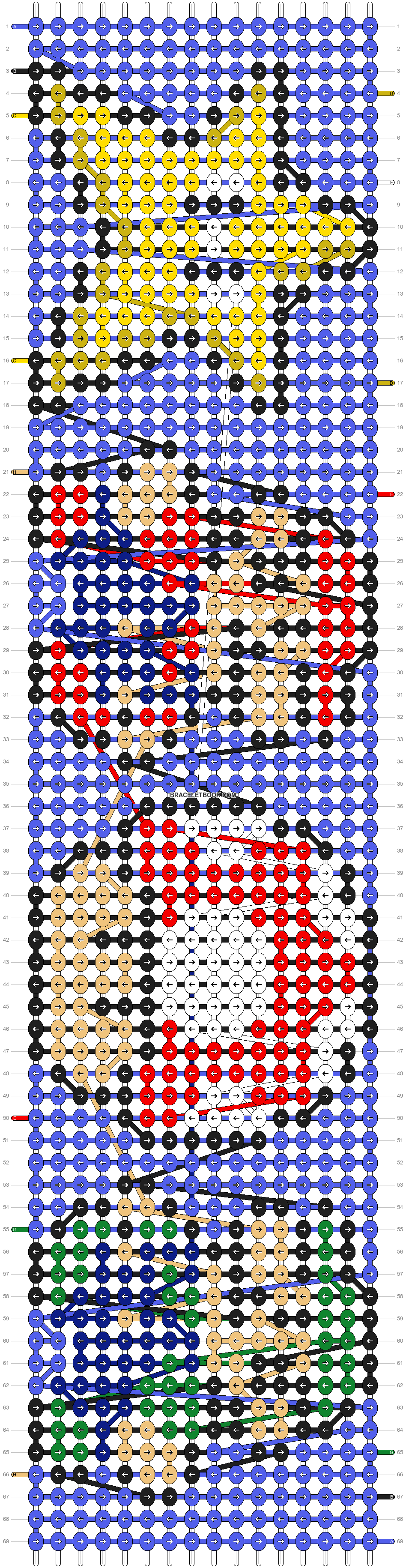 Alpha pattern #8487 pattern