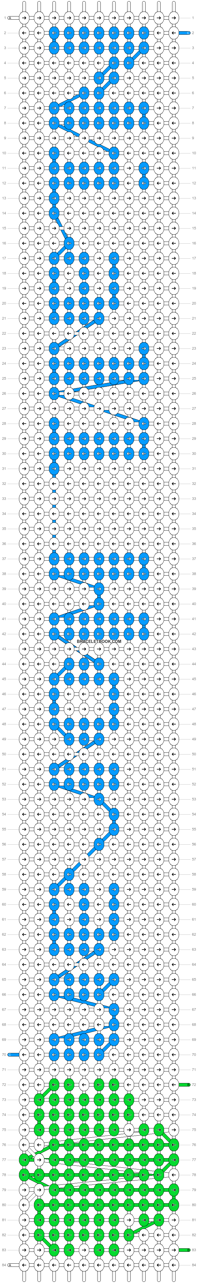 Alpha pattern #8490 pattern