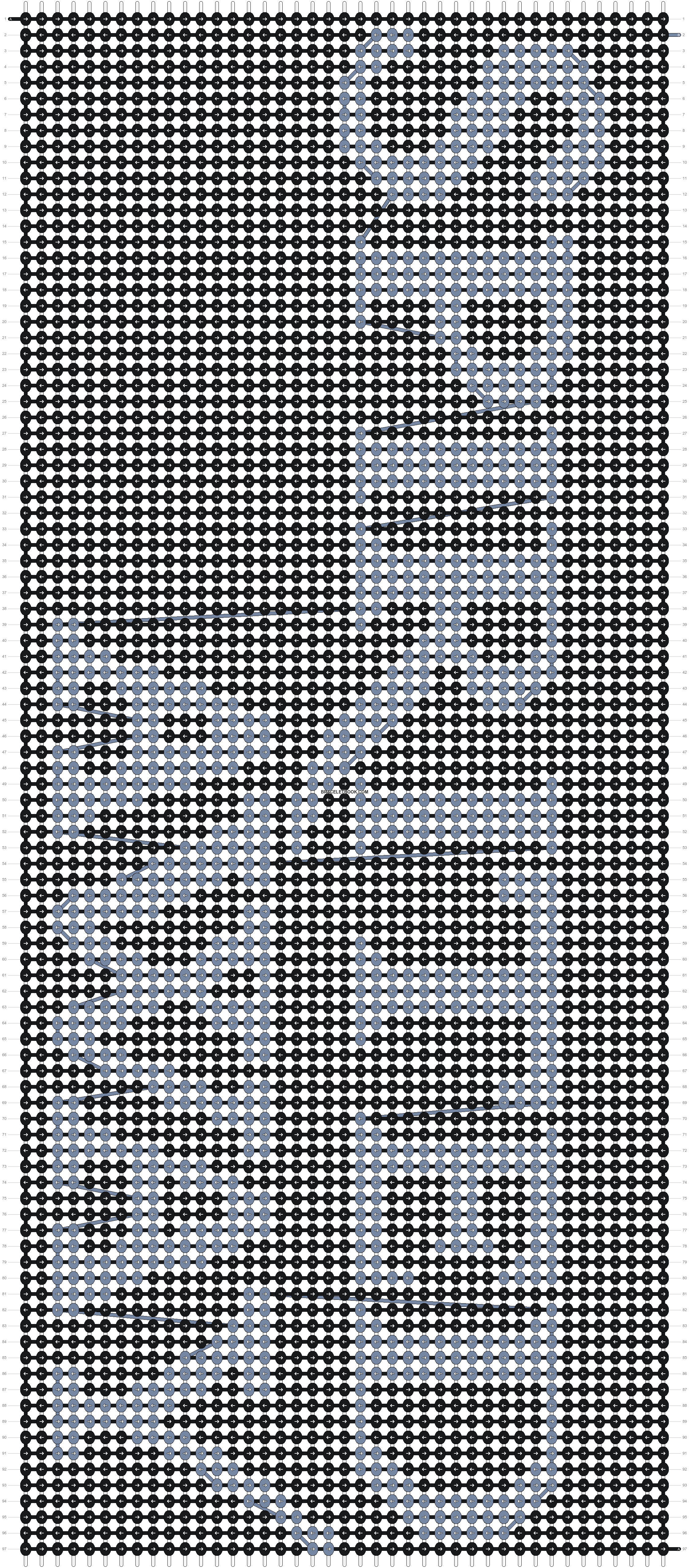 Alpha pattern #8500 pattern