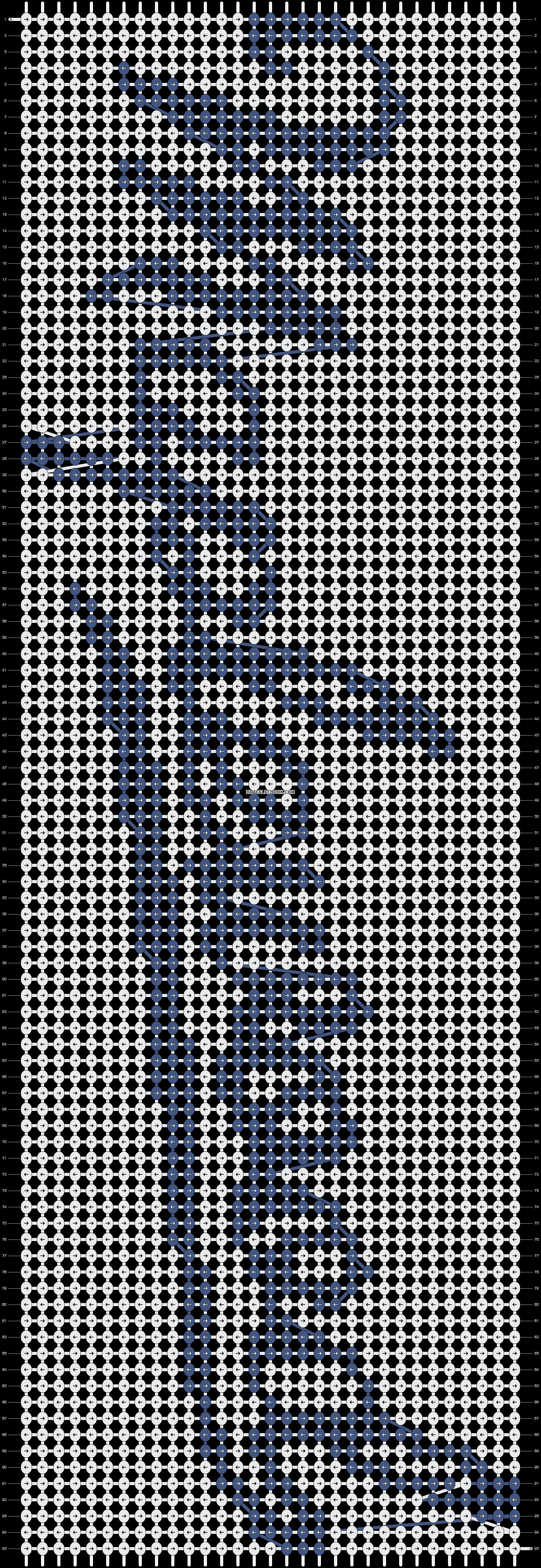 Alpha pattern #8501 pattern