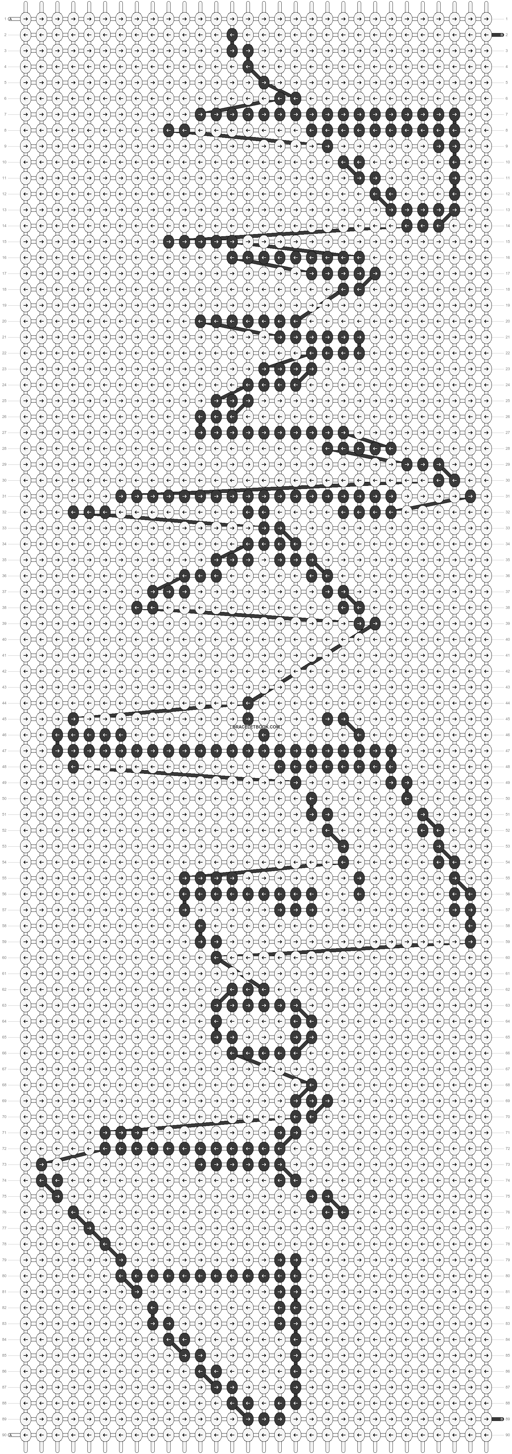 Alpha pattern #8562 pattern