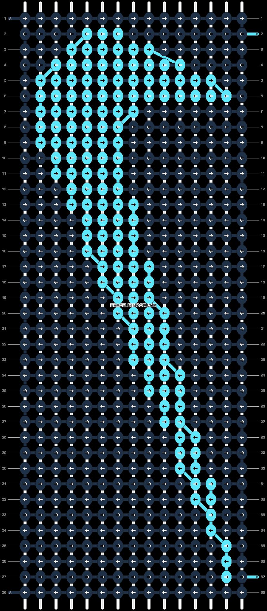 Alpha pattern #8582 pattern