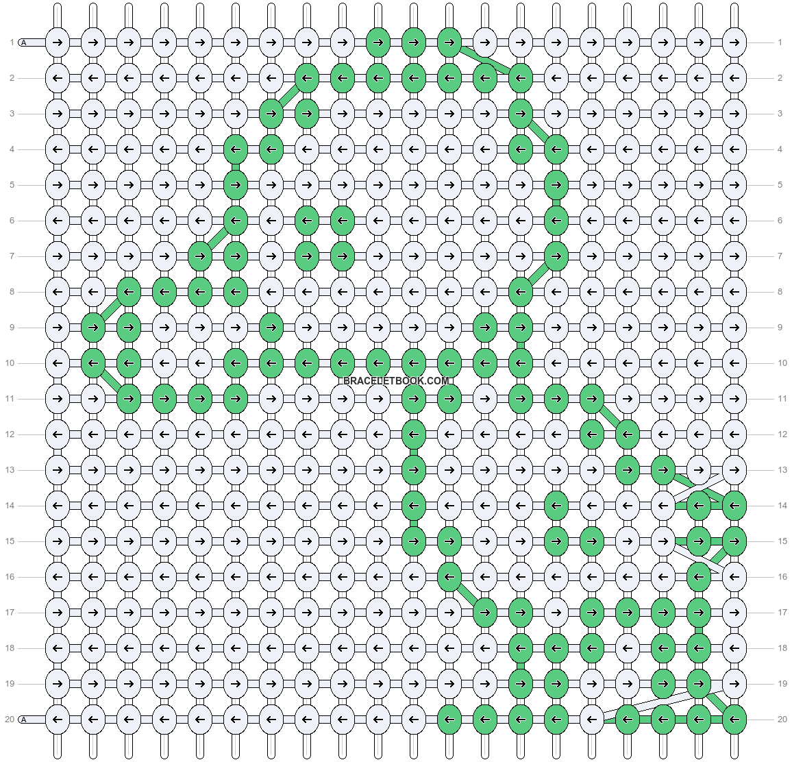 Alpha pattern #8588 pattern