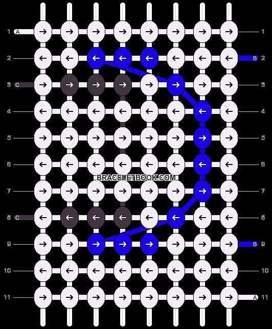Alpha pattern #8613 pattern