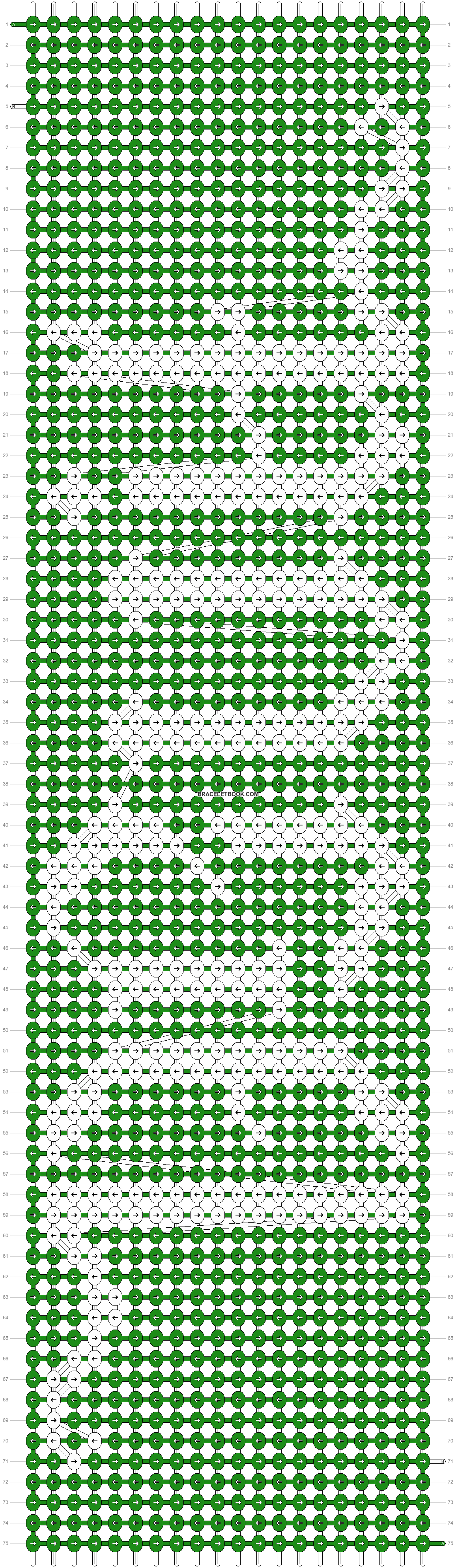Alpha pattern #8668 pattern