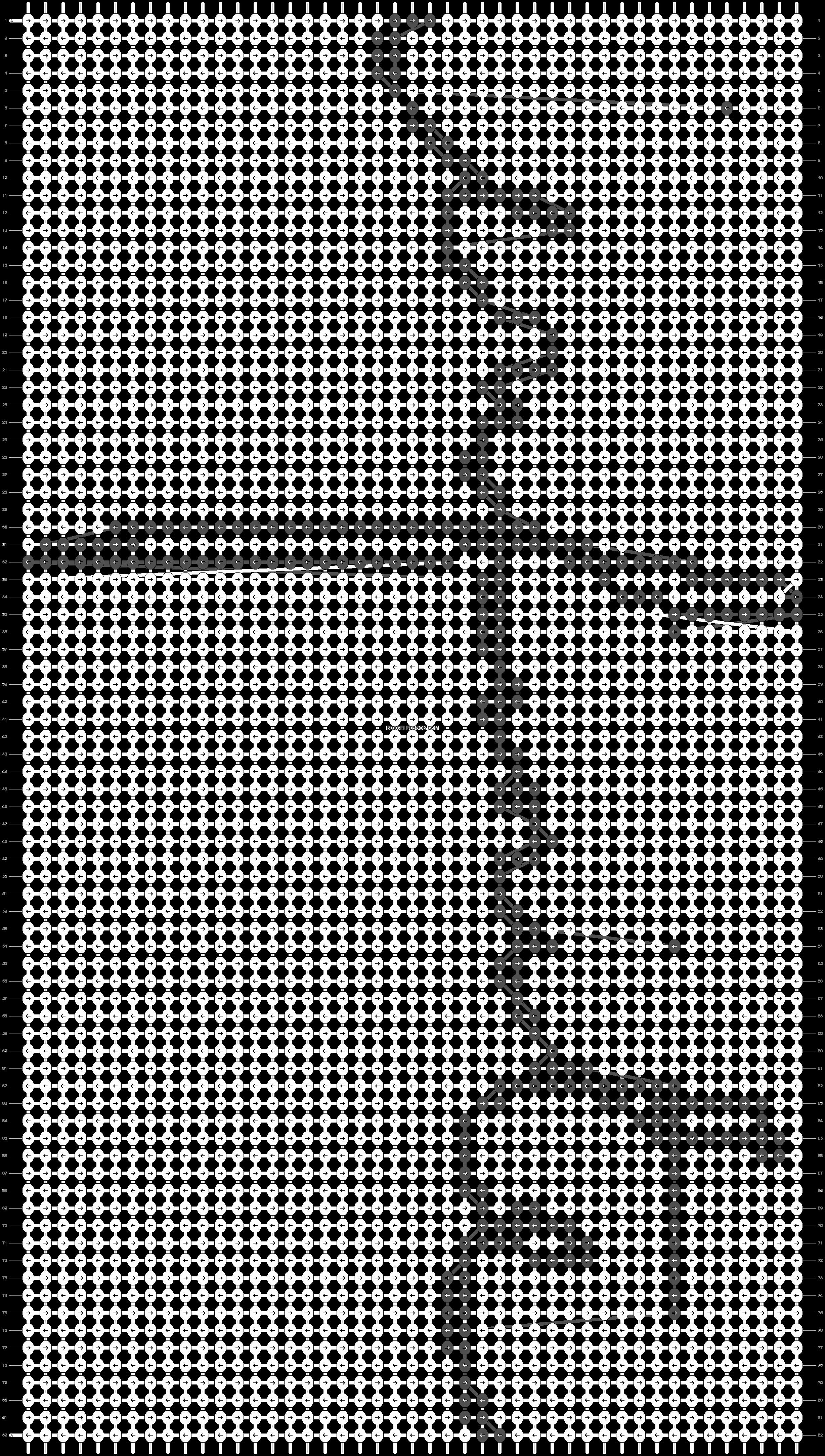 Alpha pattern #8687 pattern