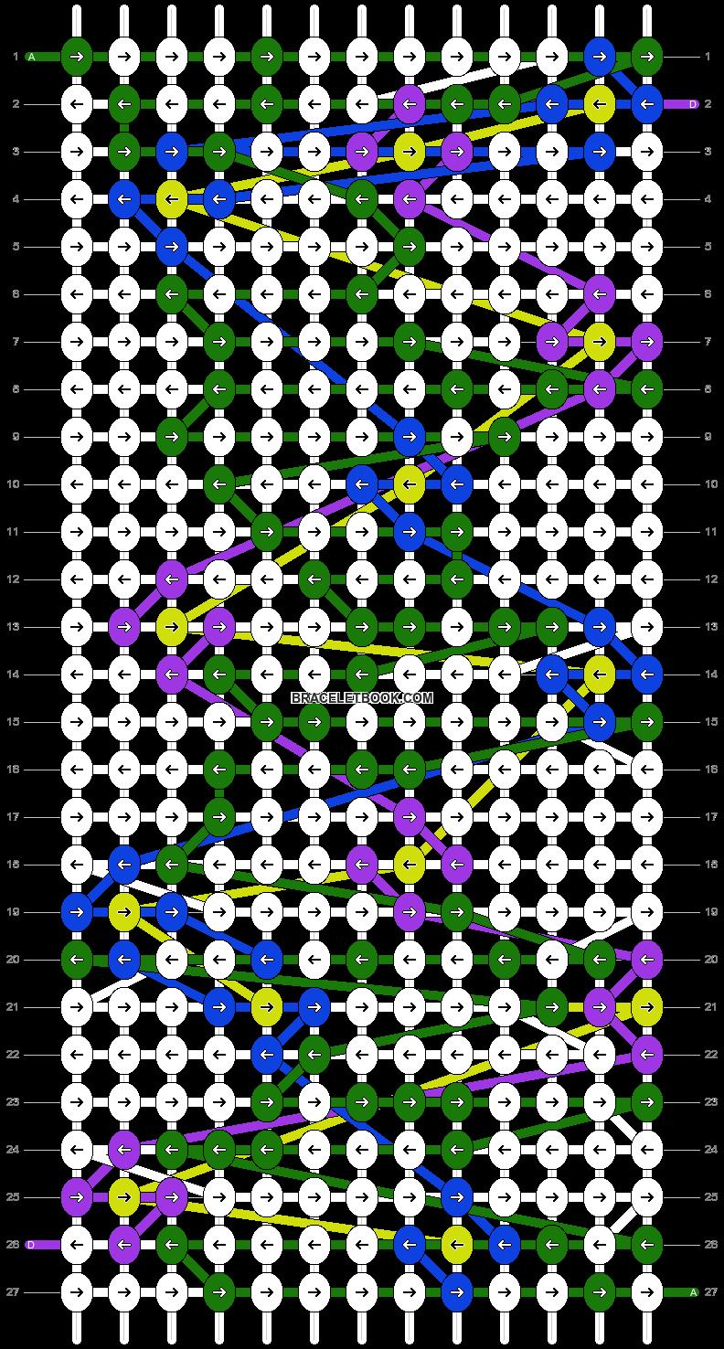 Alpha pattern #8692 pattern