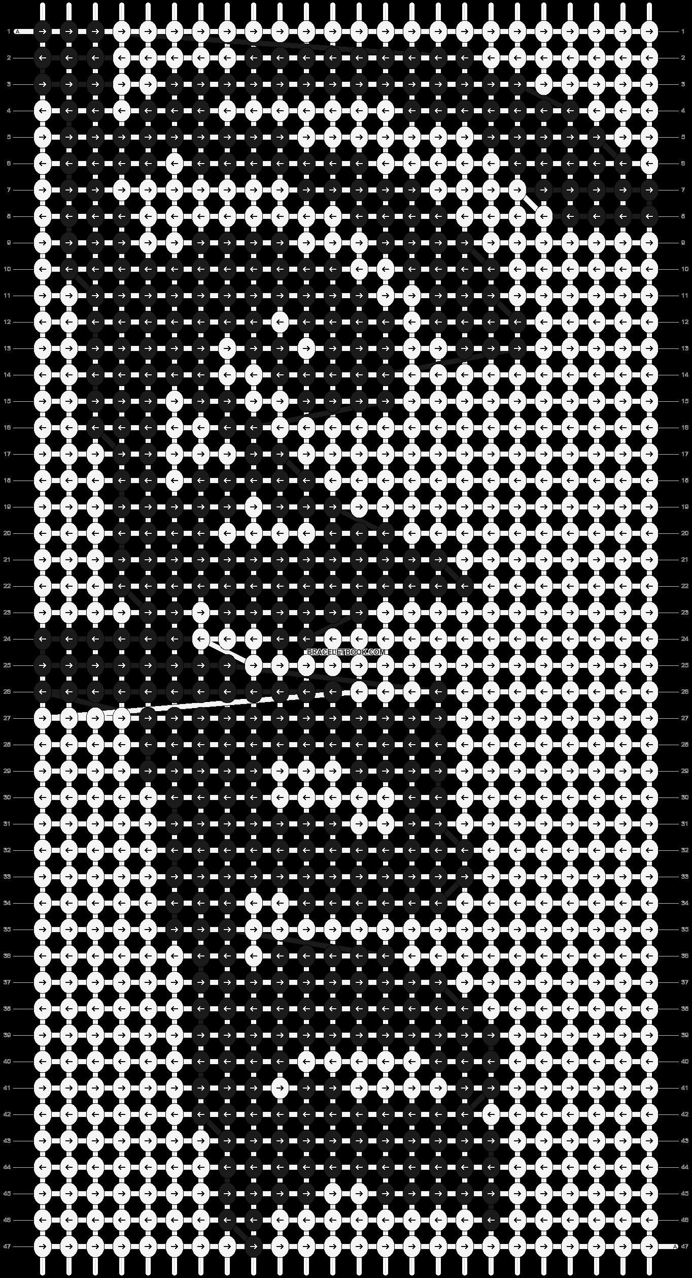 Alpha pattern #8702 pattern