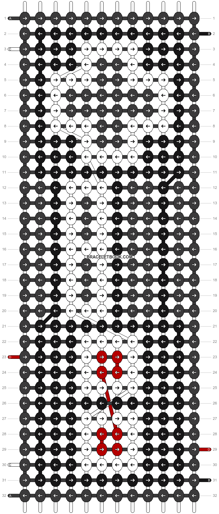 Alpha pattern #8706 pattern