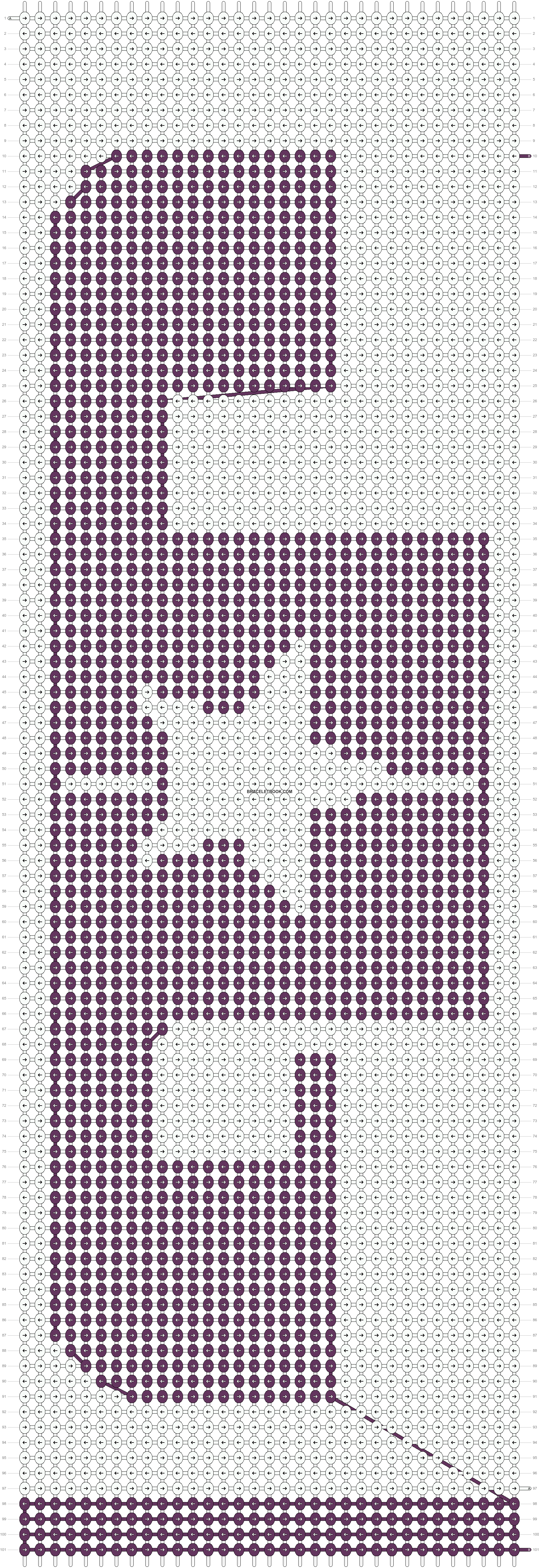 Alpha pattern #8711 pattern