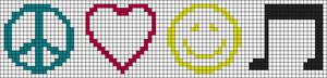 Alpha Friendship Bracelet Pattern #8746