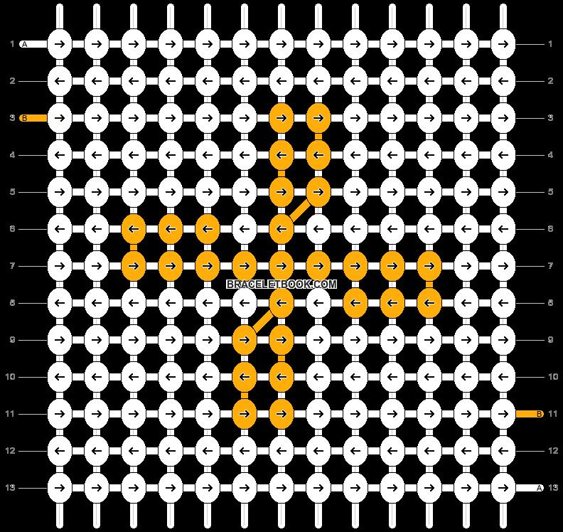 Alpha pattern #8769 pattern