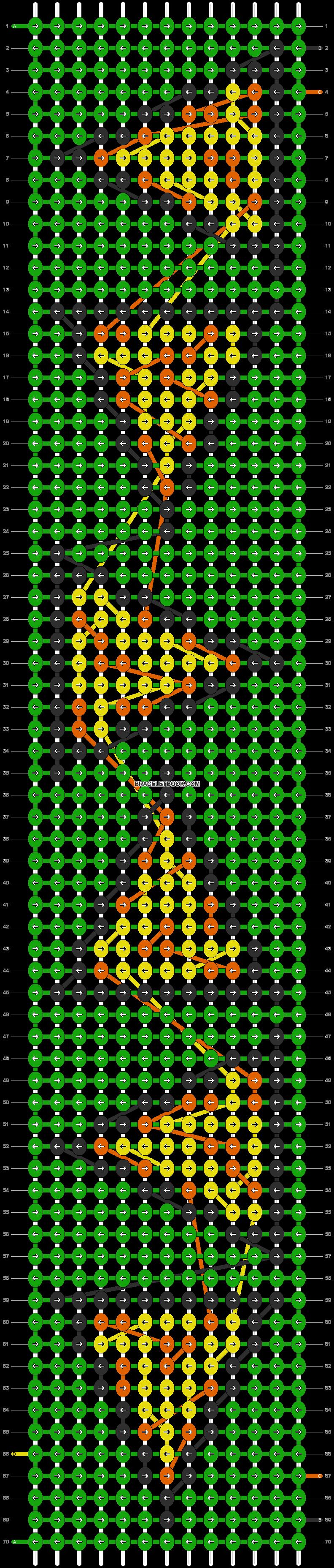 Alpha pattern #8802 pattern