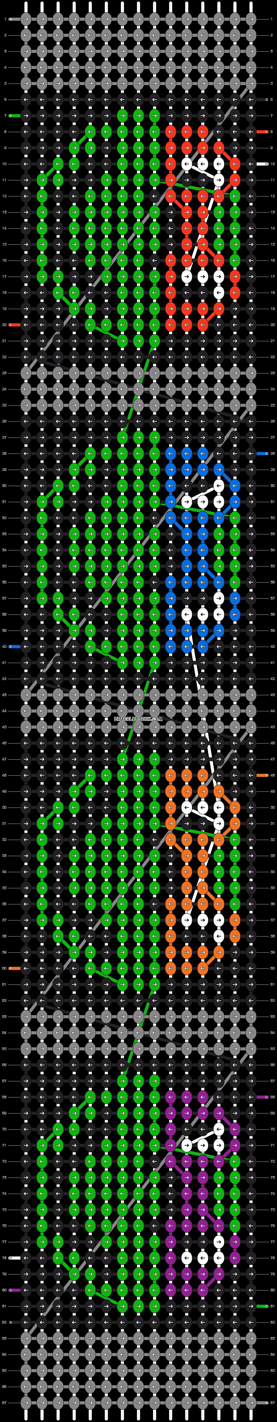 Alpha pattern #8807 pattern