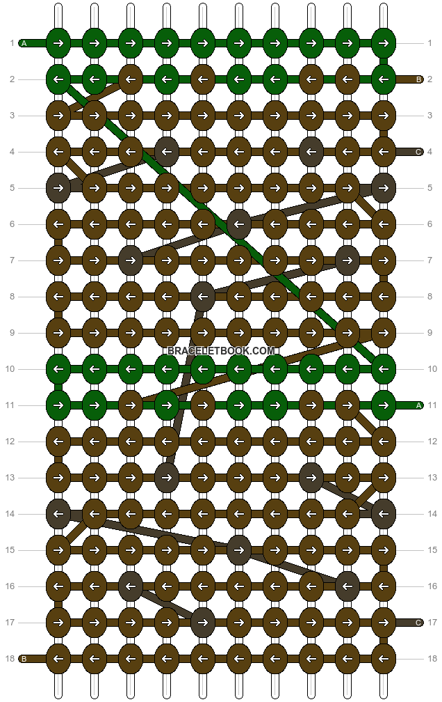 Alpha pattern #8836 pattern