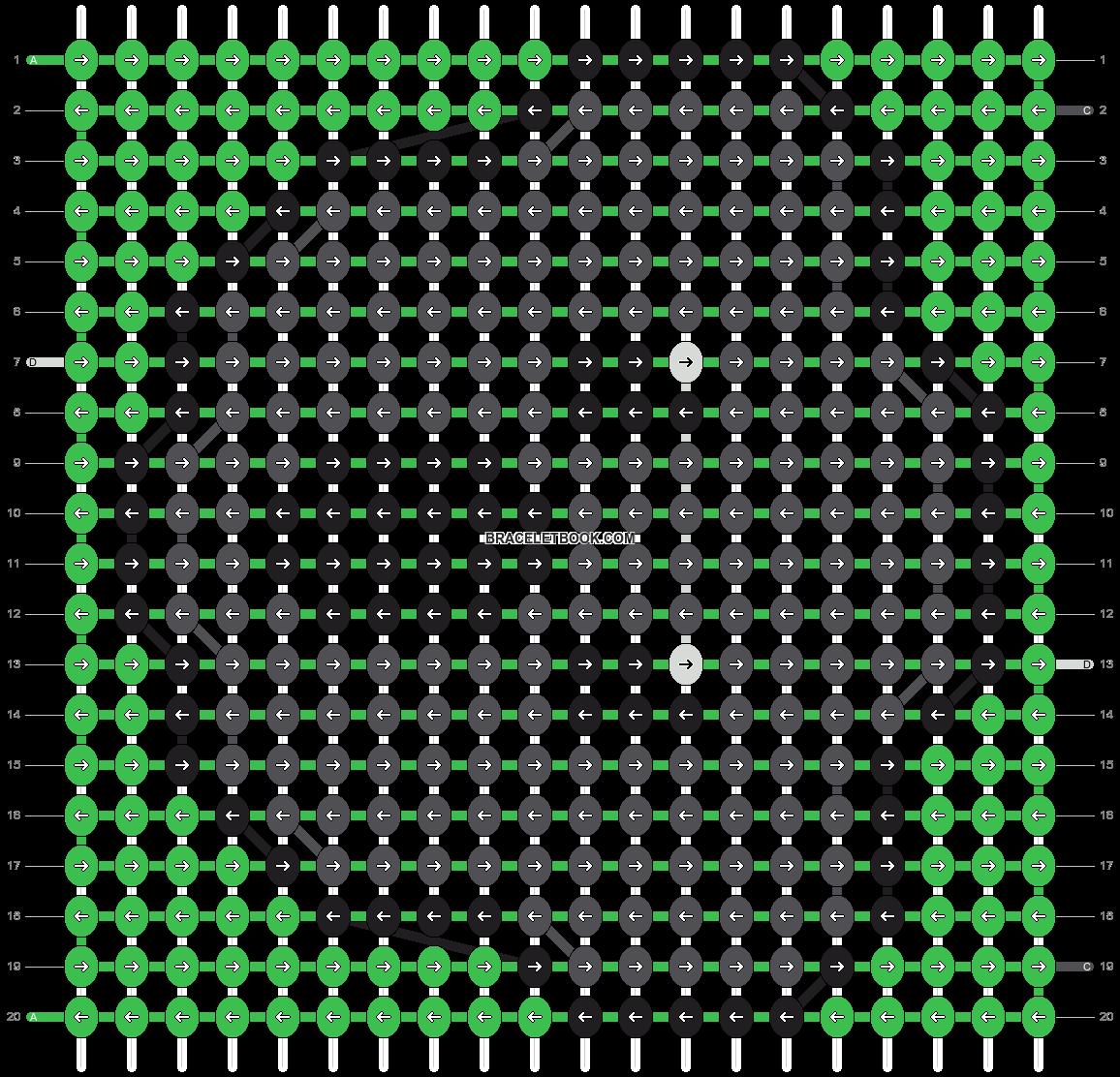 Alpha pattern #8909 pattern