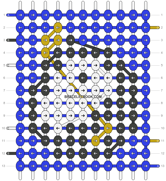 Alpha pattern #8910 pattern