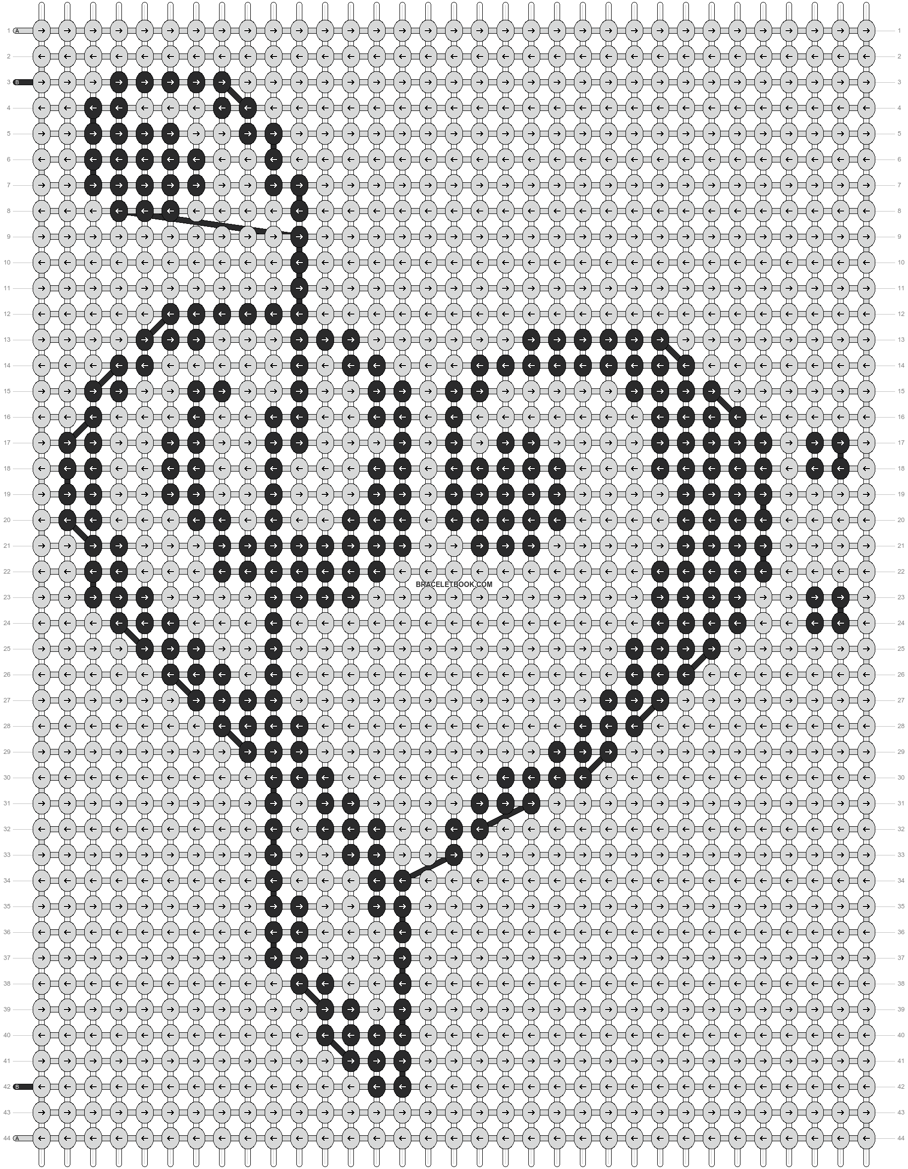 Alpha pattern #8912 pattern