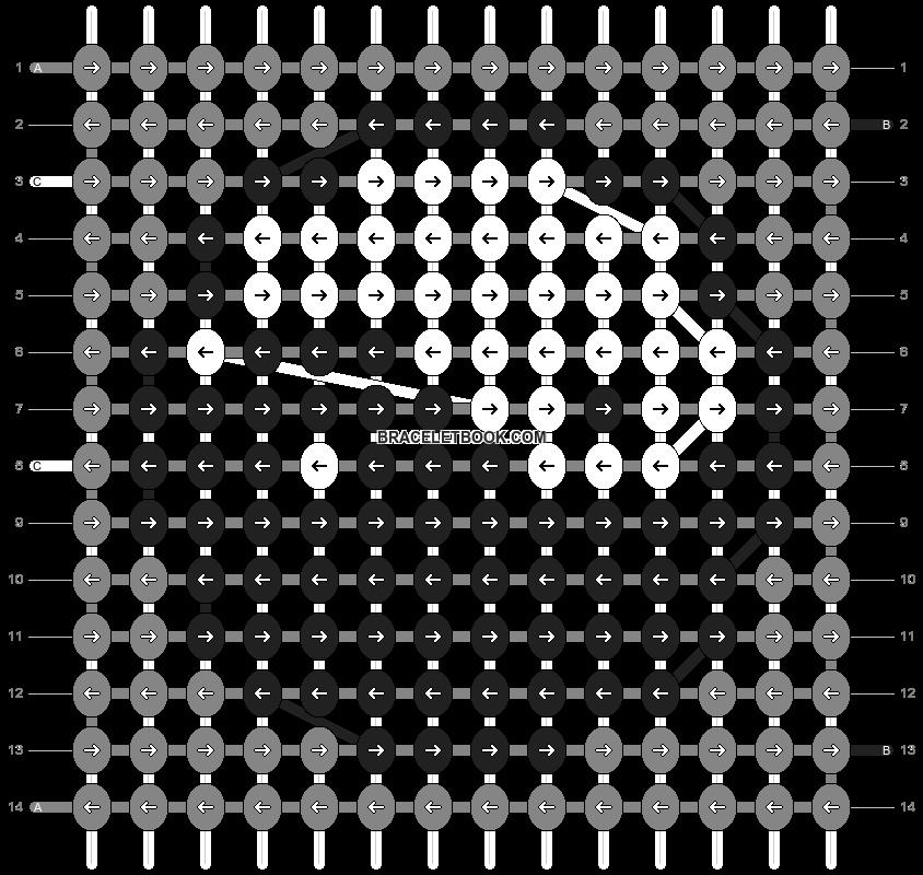 Alpha pattern #8938 pattern