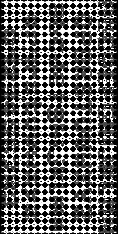 Alpha pattern #8980 pattern