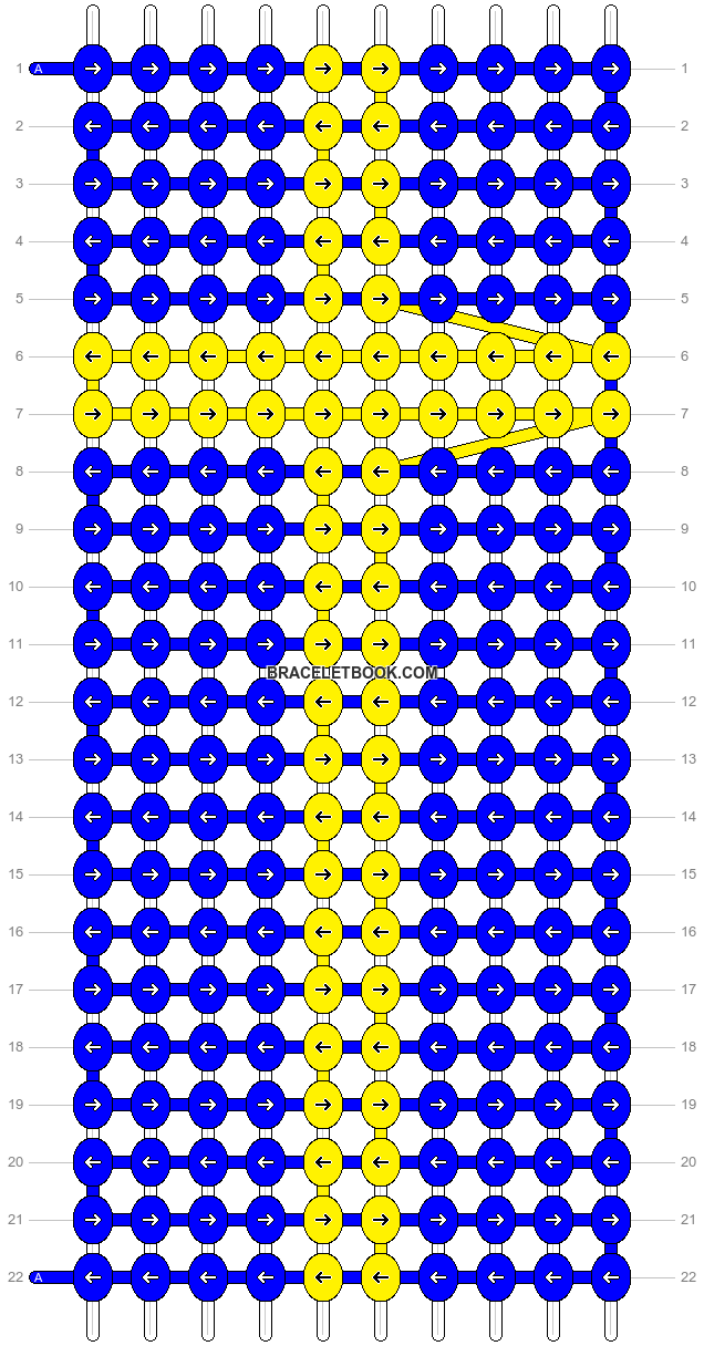 Alpha pattern #8986 pattern