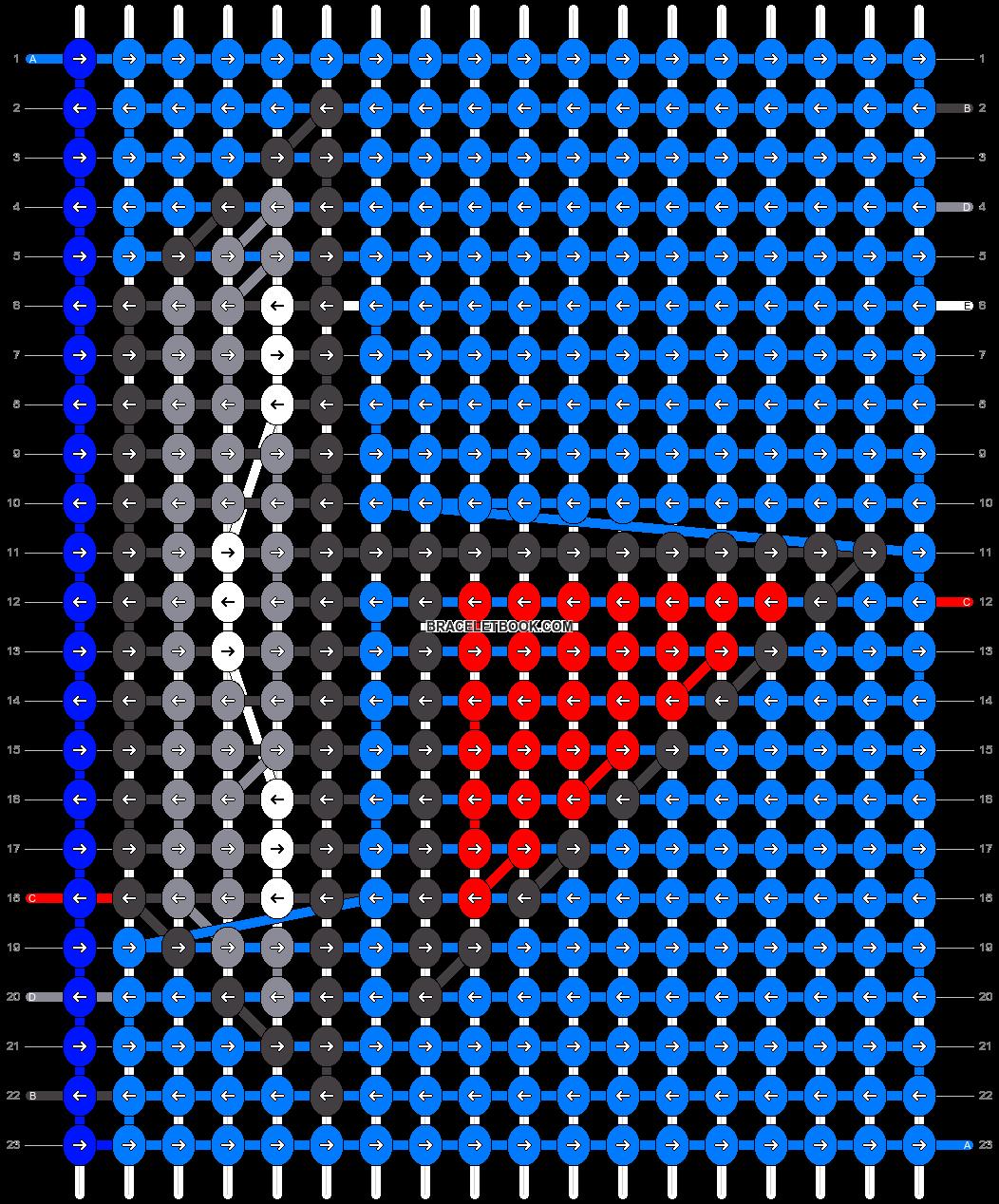 Alpha pattern #8988 pattern