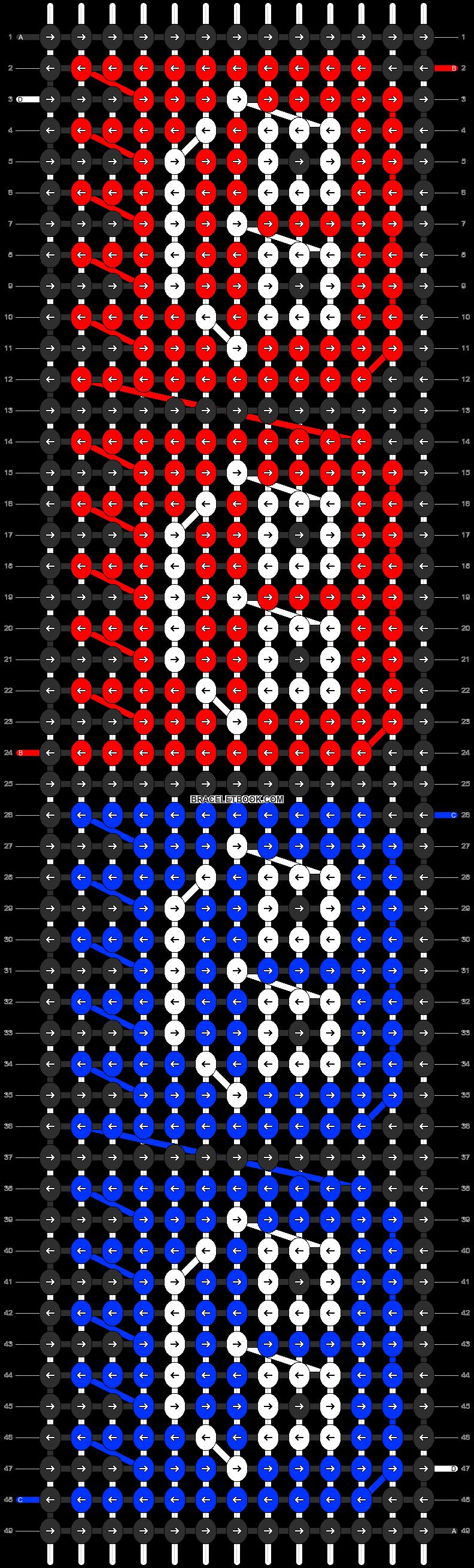 Alpha pattern #8991 pattern