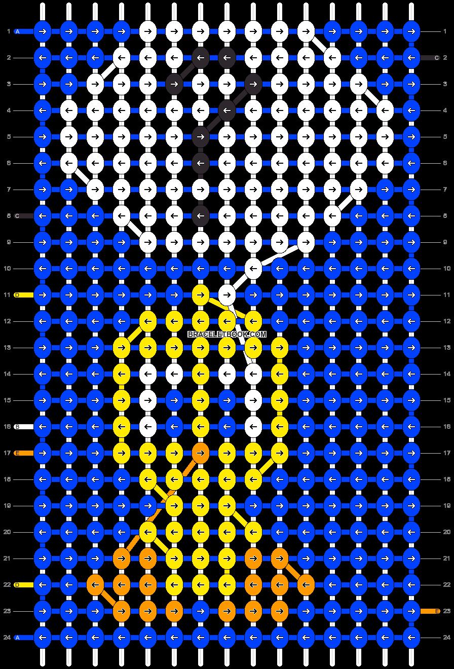 Alpha pattern #9000 pattern