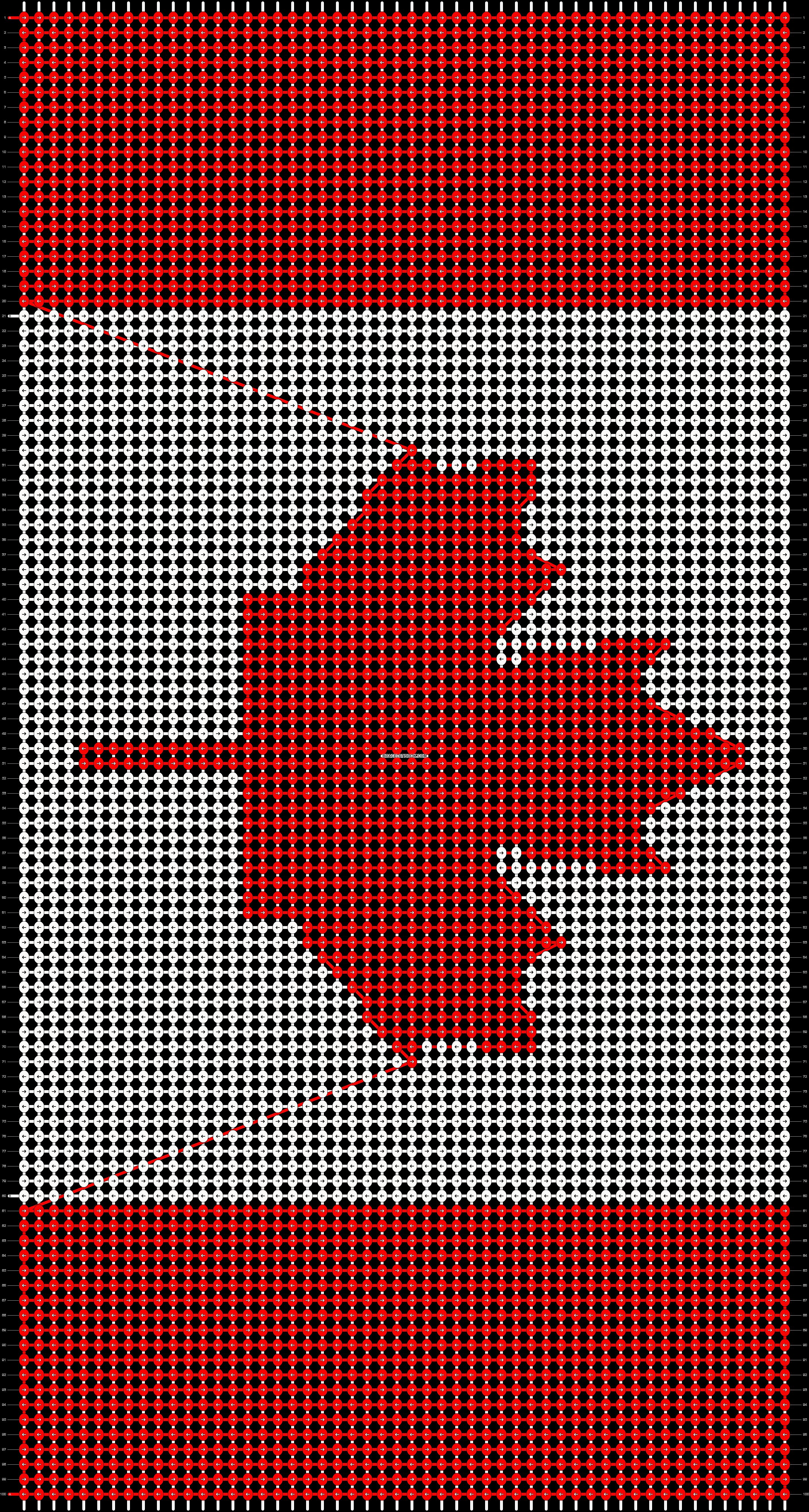Alpha pattern #9013 pattern