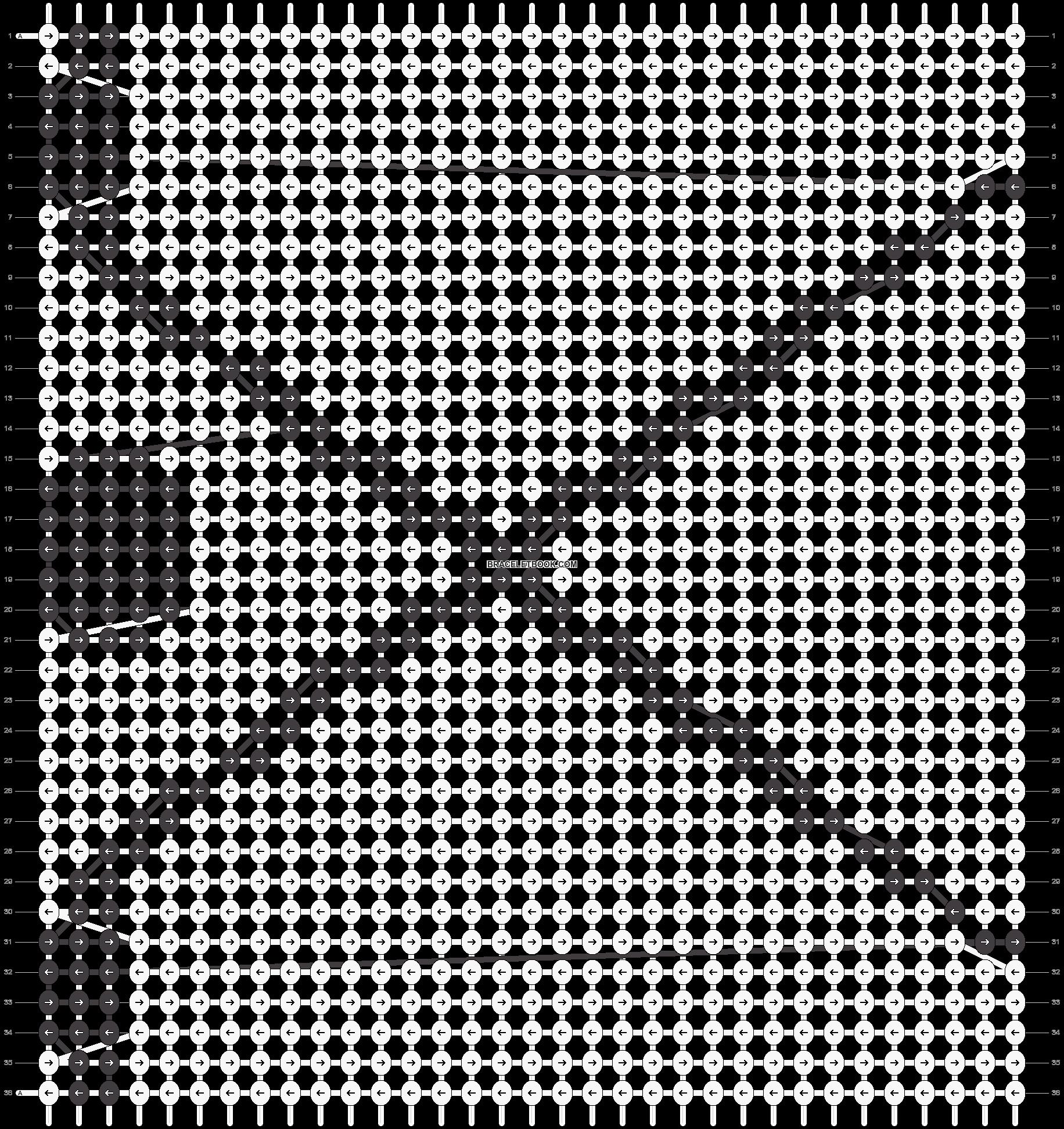 Alpha pattern #9025 pattern