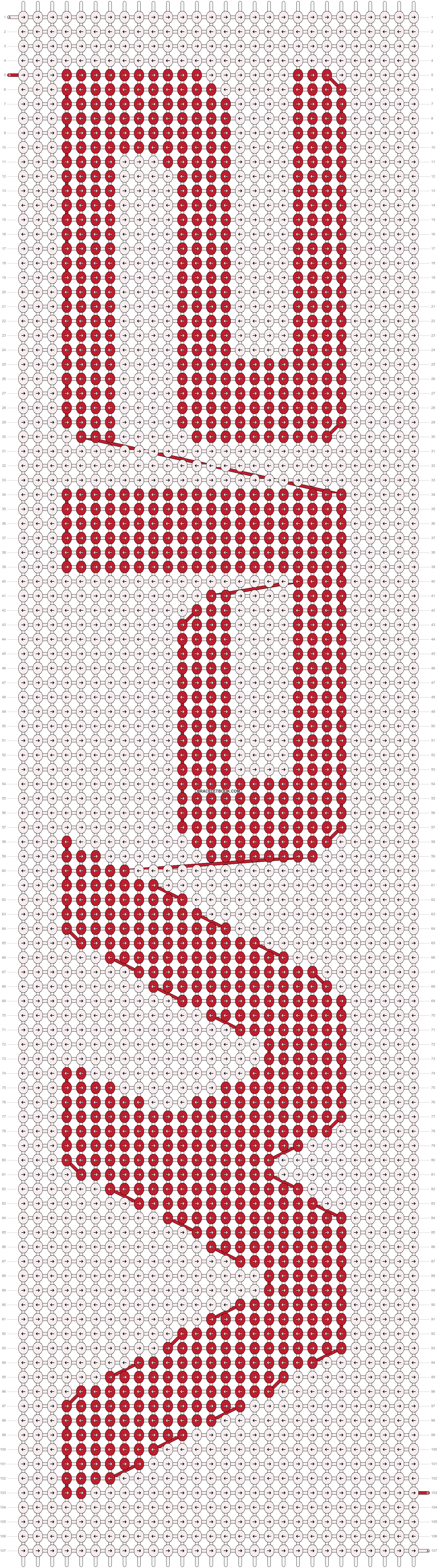 Alpha pattern #9046 pattern