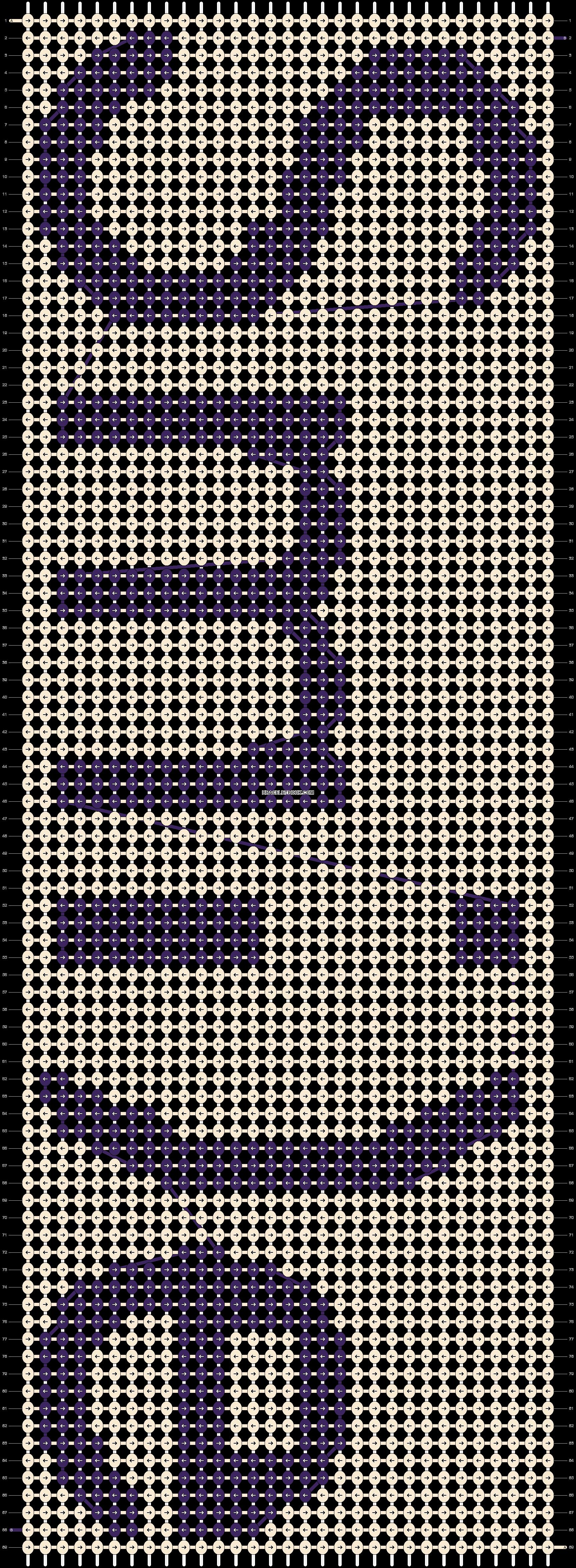 Alpha pattern #9051 pattern
