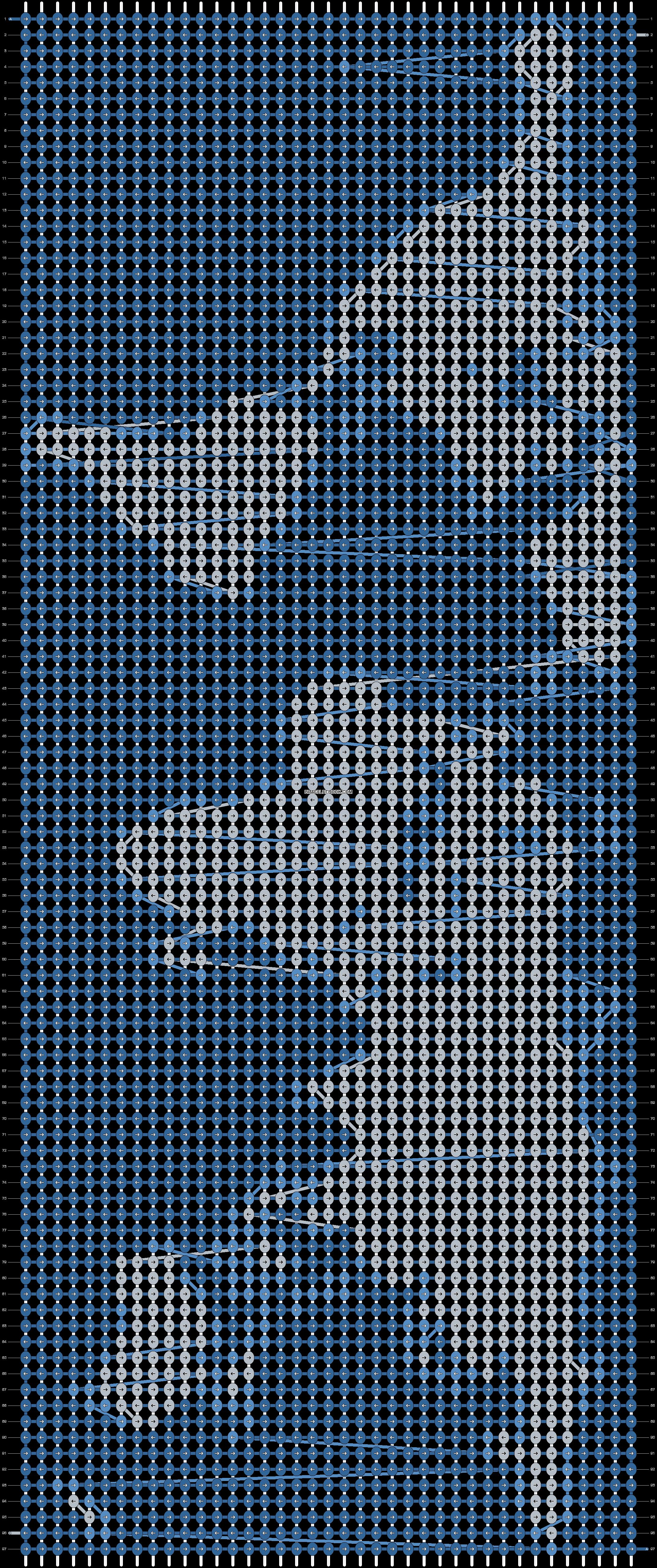 Alpha pattern #9059 pattern