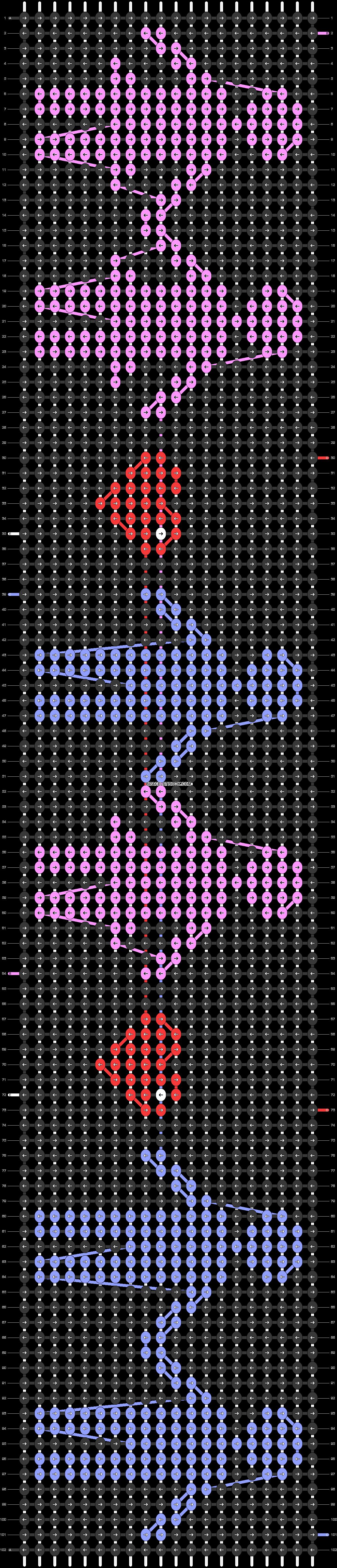 Alpha pattern #9070 pattern