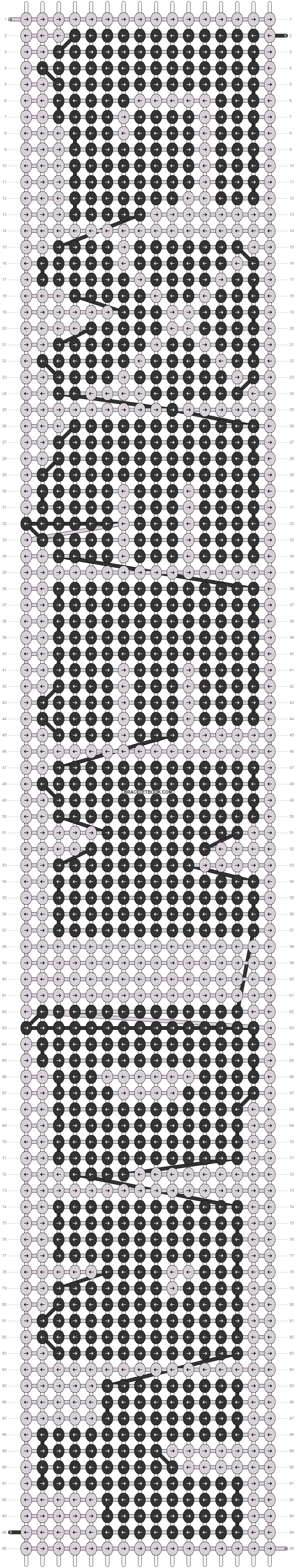 Alpha pattern #9074 pattern