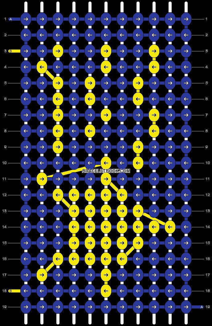 Alpha pattern #9081 pattern