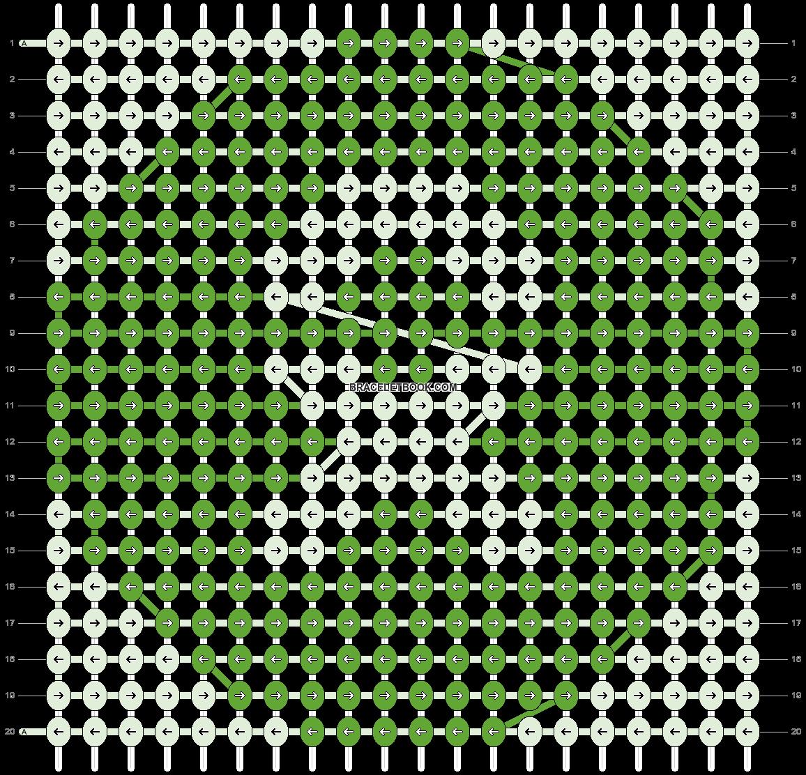 Alpha pattern #9086 pattern