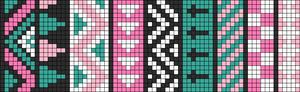 Alpha Friendship Bracelet Pattern #9153