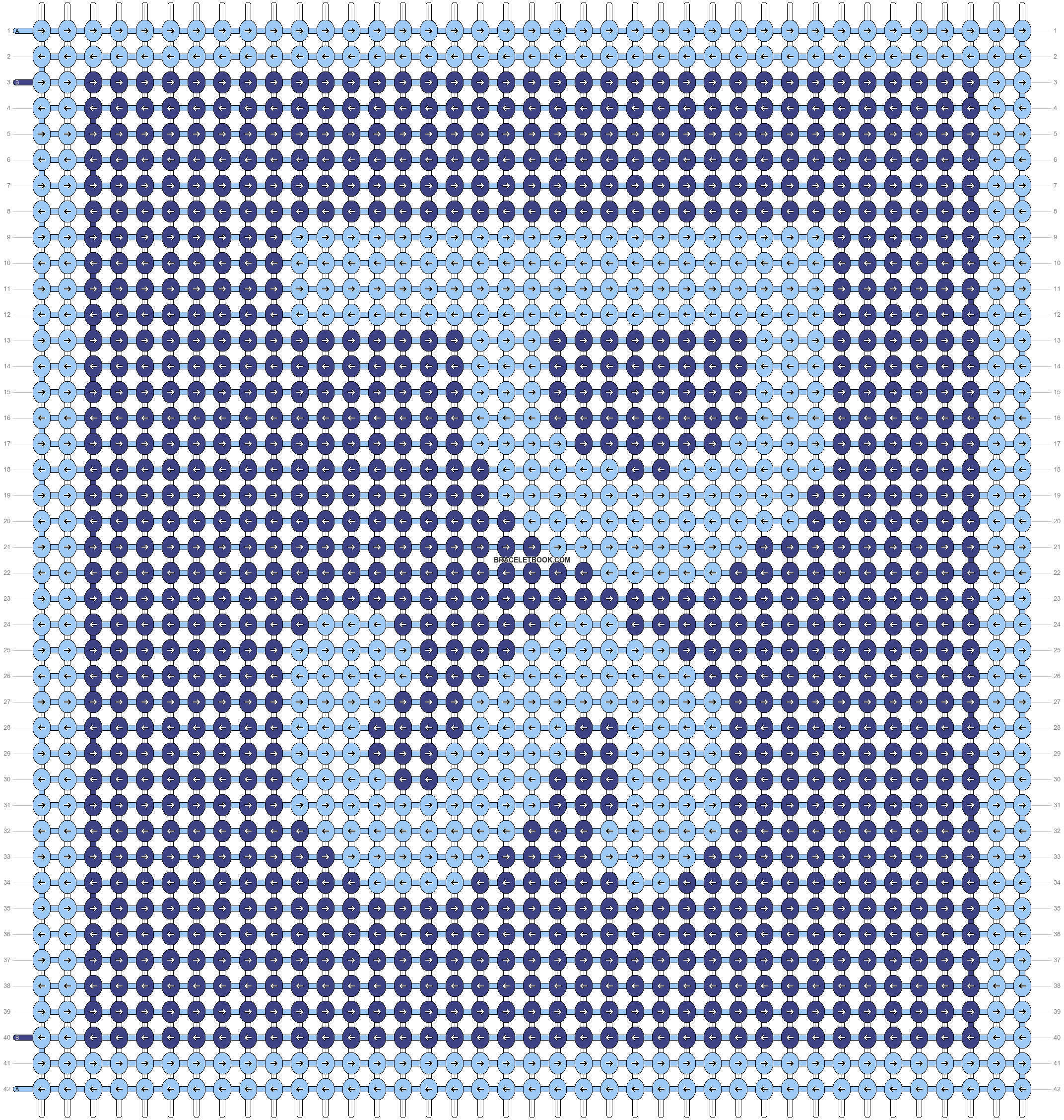 Alpha pattern #9166 pattern