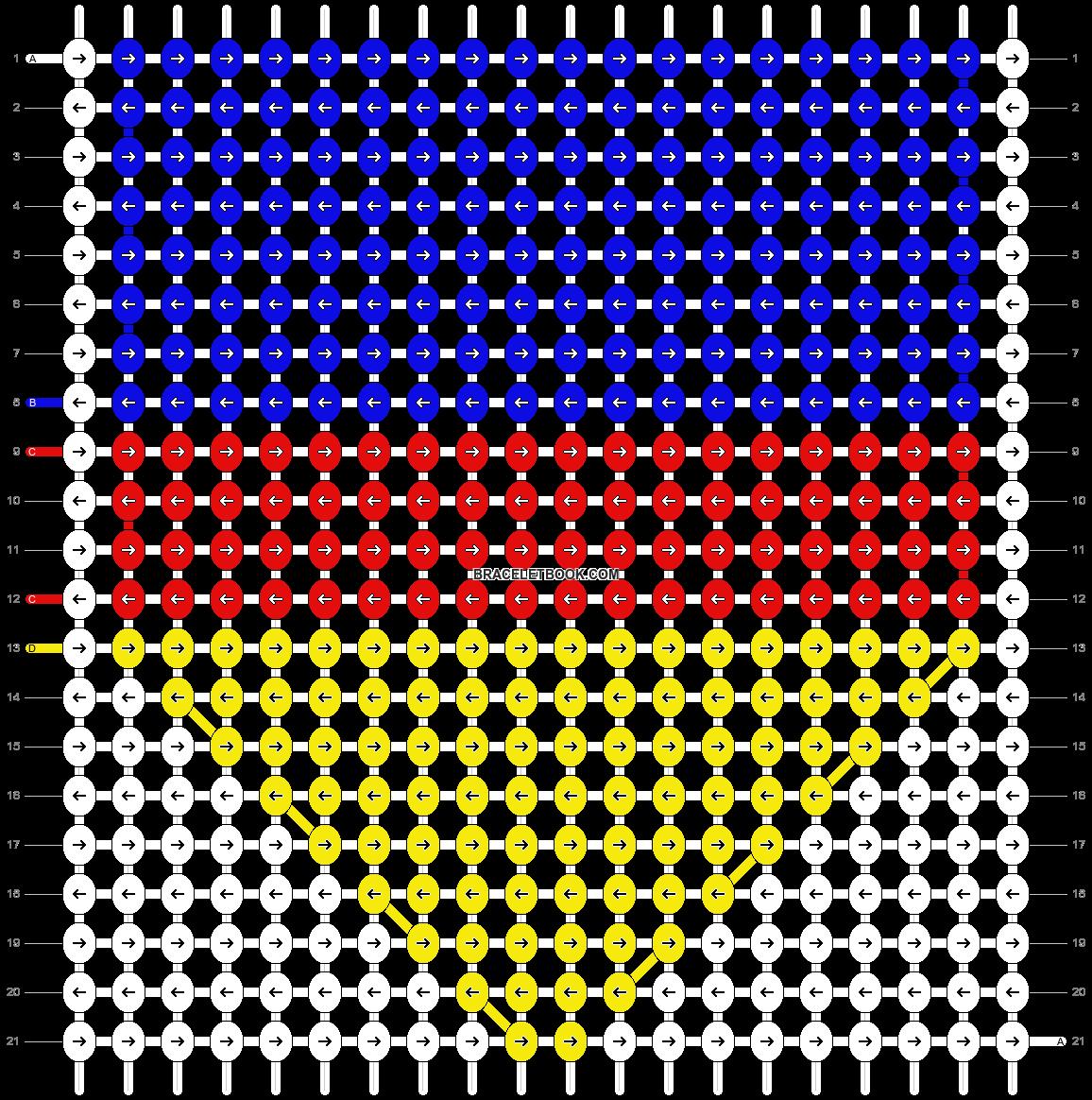 Alpha pattern #9184 pattern