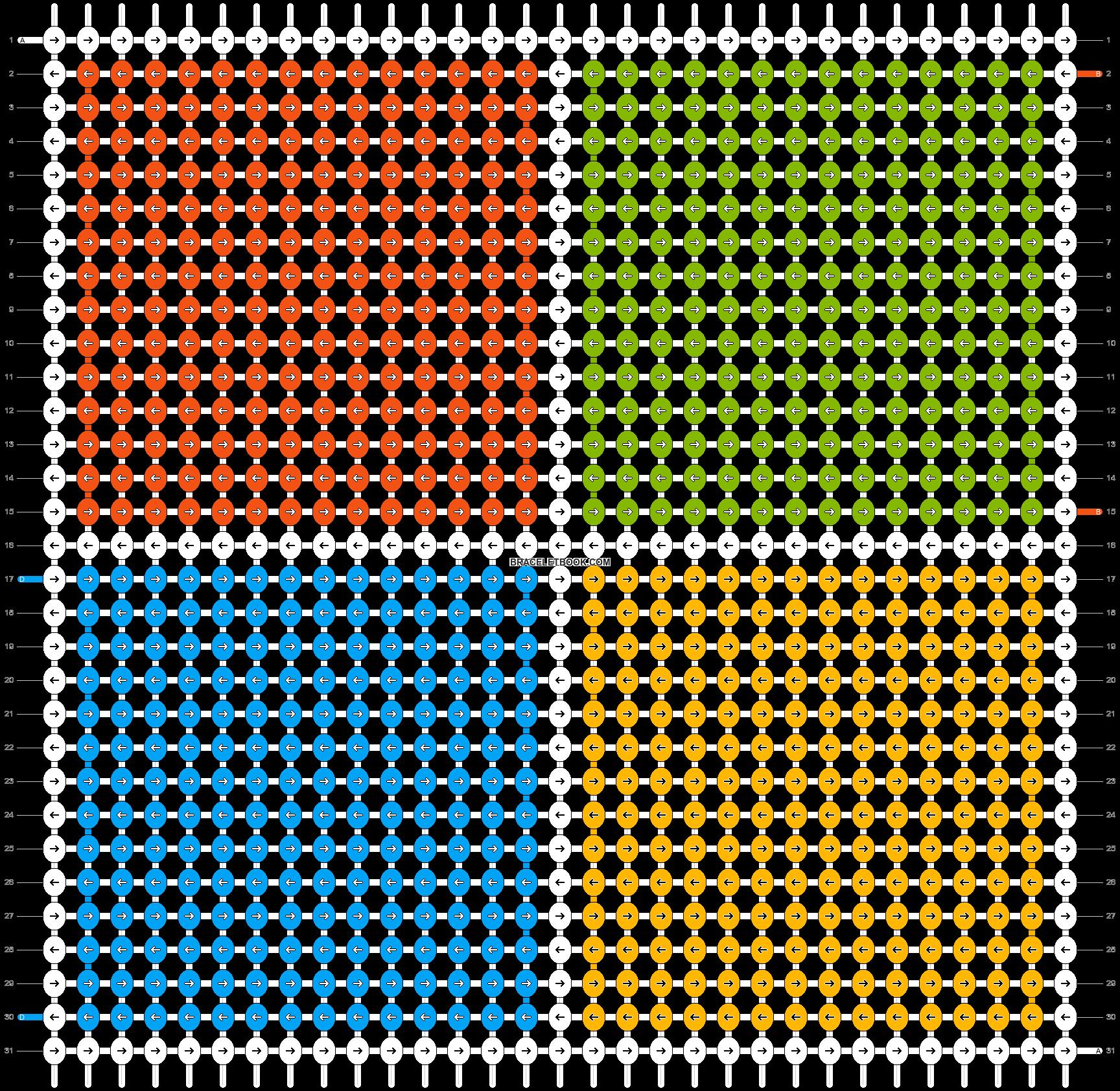 Alpha pattern #9200 pattern