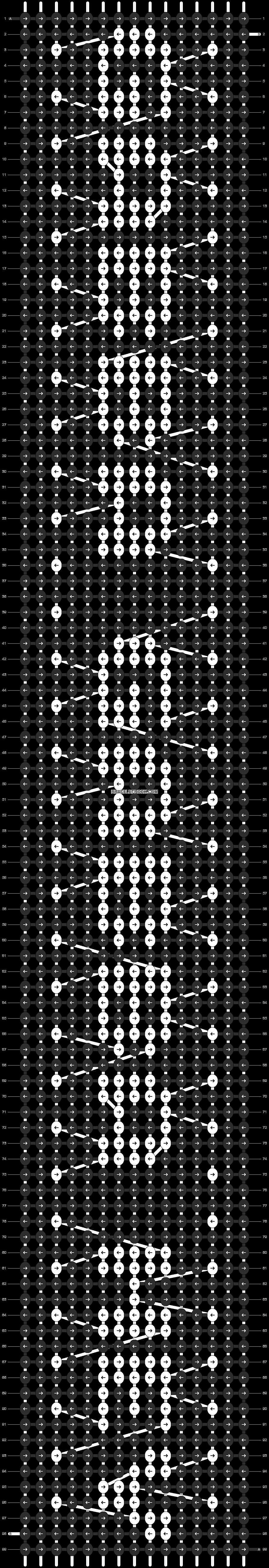 Alpha pattern #9210 pattern