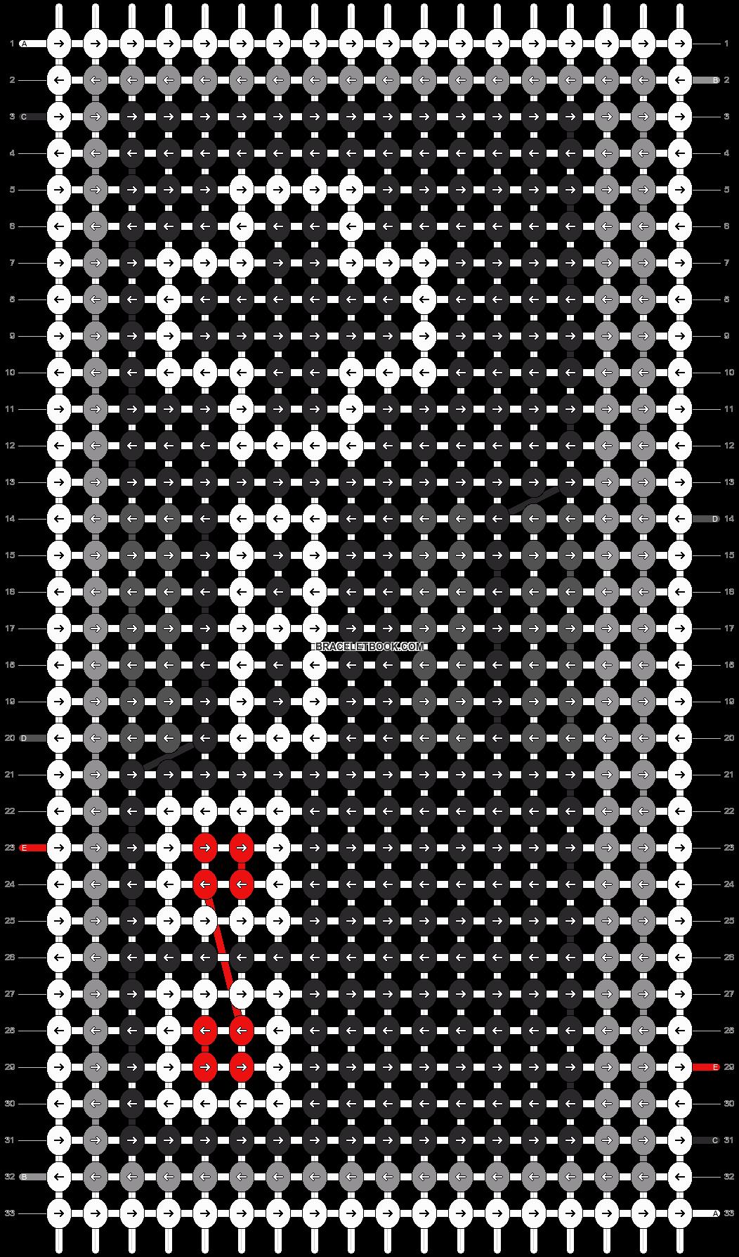 Alpha pattern #9214 pattern