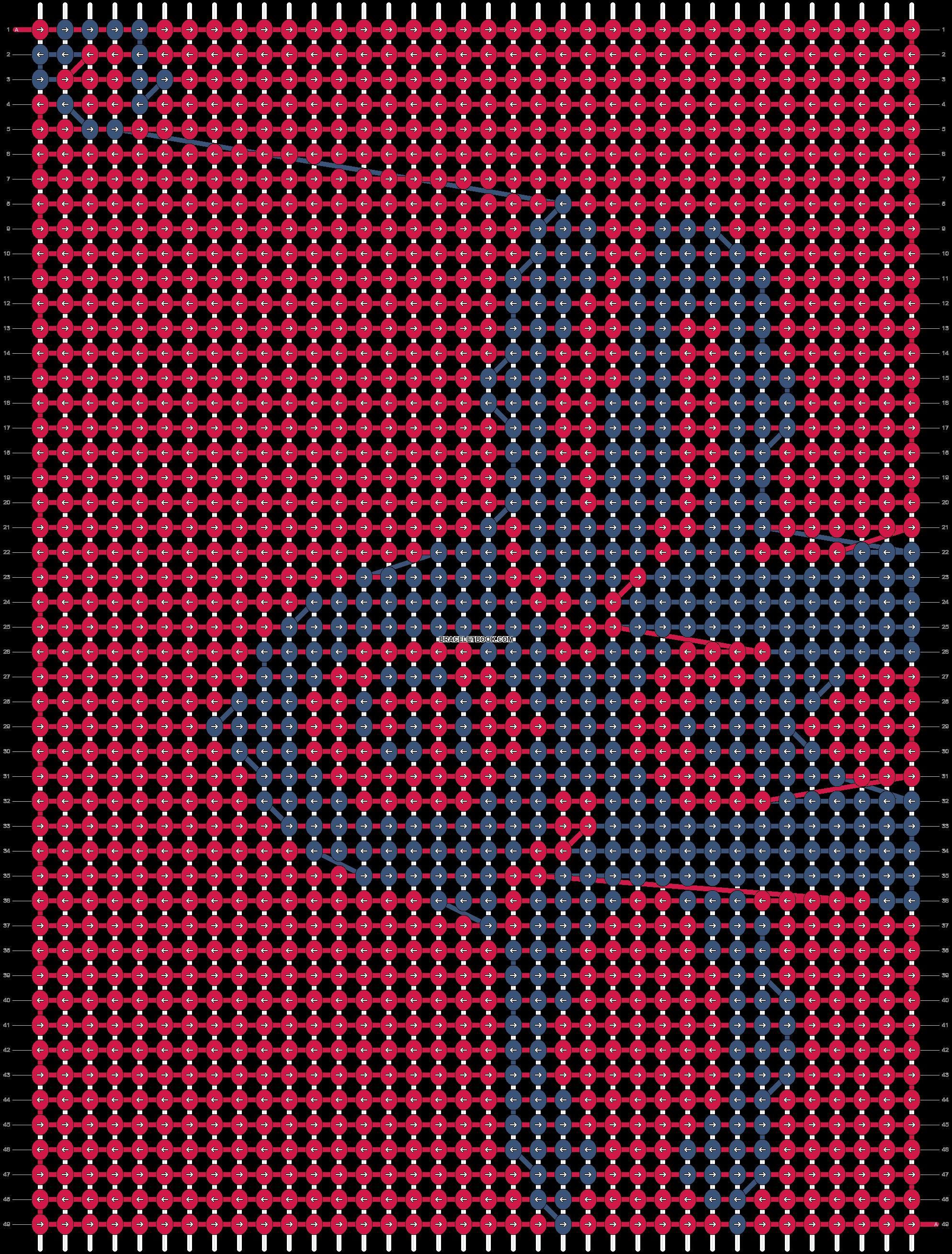 Alpha pattern #9225 pattern