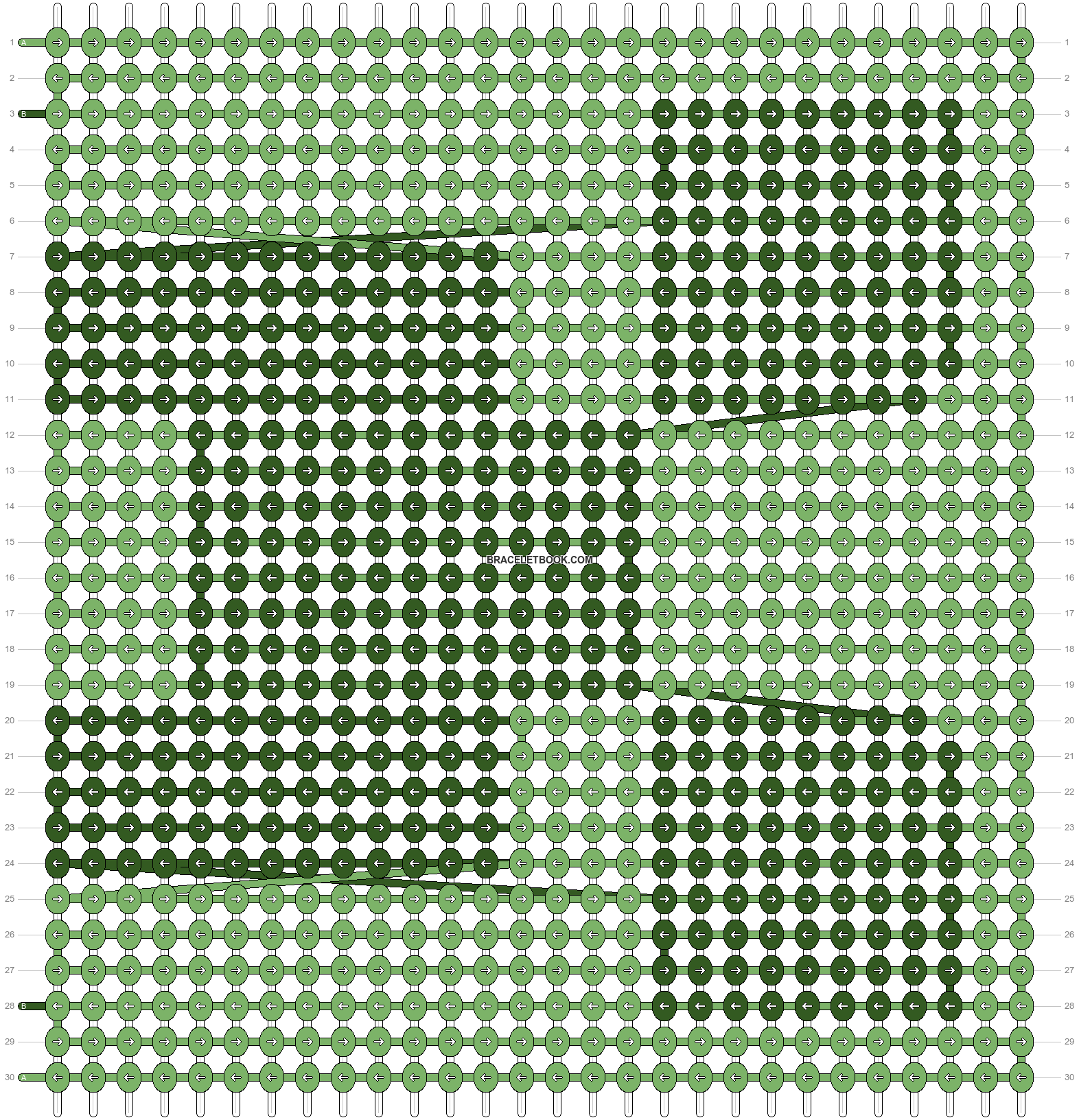 Alpha pattern #9240 pattern