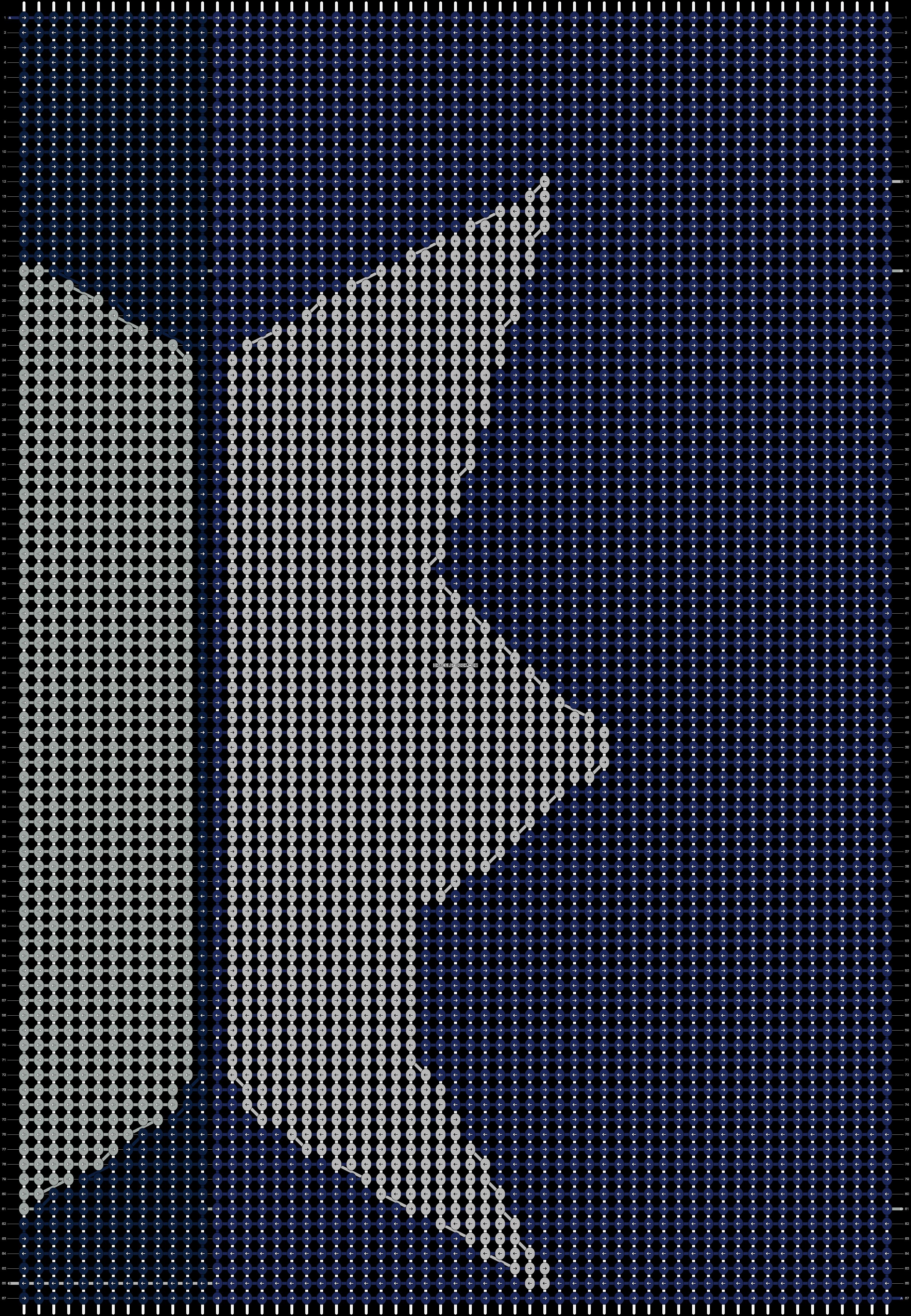 Alpha pattern #9246 pattern