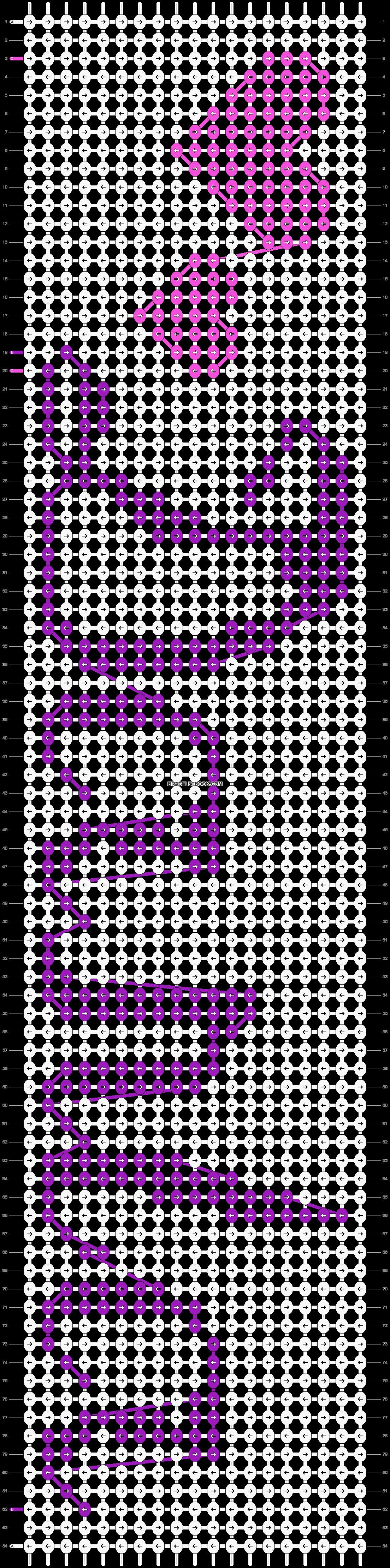 Alpha pattern #9252 pattern