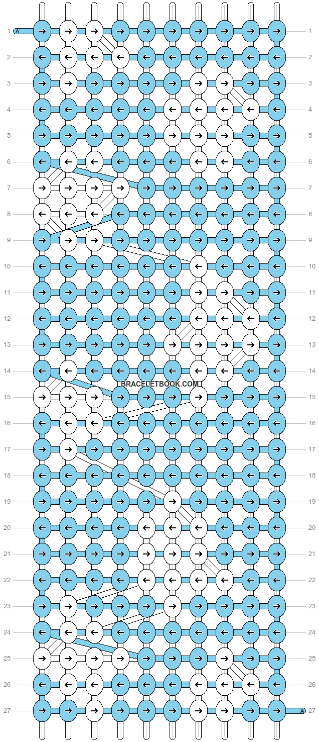 Alpha pattern #9262 pattern