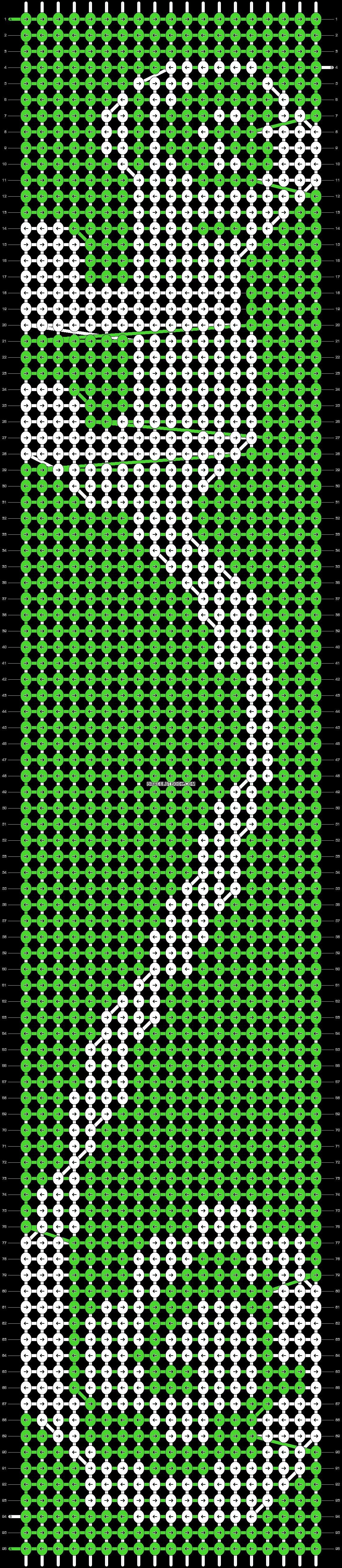 Alpha pattern #9303 pattern