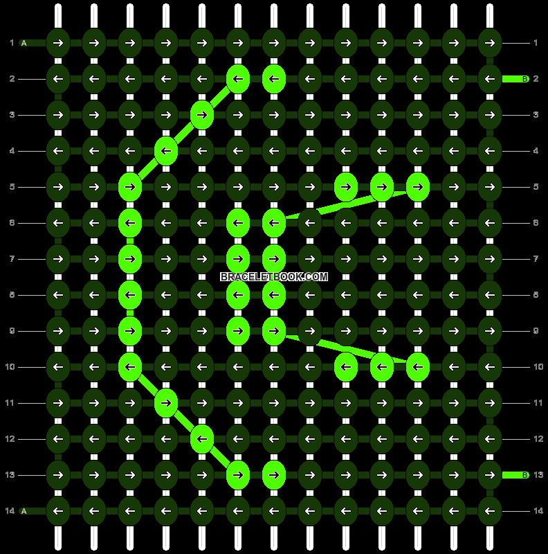 Alpha pattern #9346 pattern